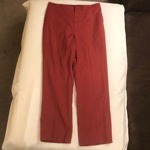 Haggar Magic Stretch Vintage Burgundy Pants 34x30